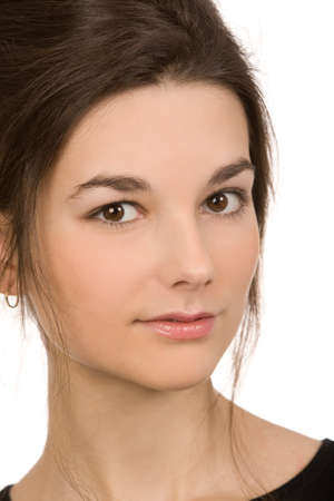 closeup portrait of the beautiful young woman Stock Photo - 4314890