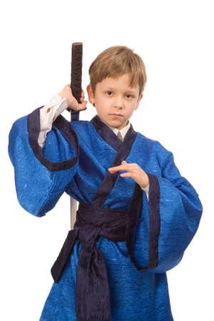 imminence: hijo var�n en el kimono azul con espada