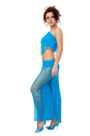 Portrait of the beautiful woman in belly dance costume Stock Photo - 6388689