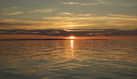onega: Russian North  Onega  Sunset over lake Onega