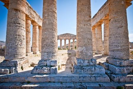 Ruins of doric temple in Sgesta, near Trapani Stock Photo - 10703465