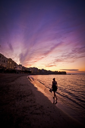 journeying: Beautiful sunset over the beach in Trapani