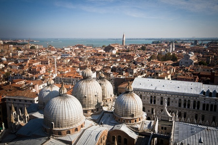 Great view from the Campanile tower in venice photo