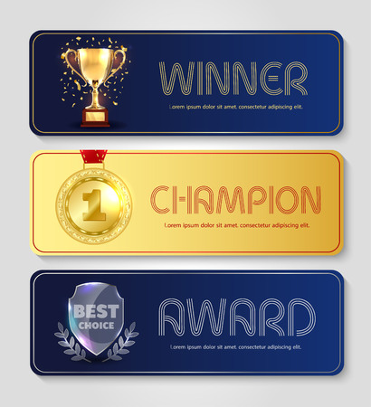Vector poster design for champion and best choice award. Illustration