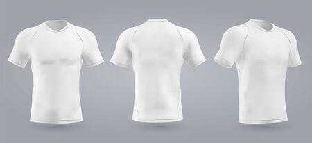 Soccer white t-shirt design slim-fitting with round neck. Vector illustration
