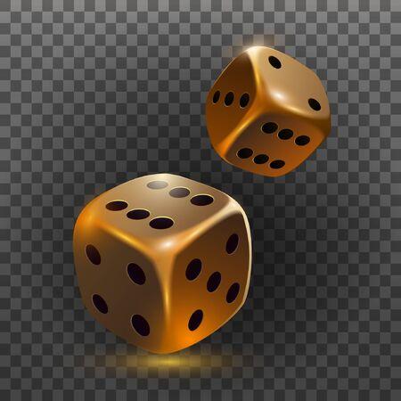 ? icono de dados asino aislado en un objeto 3D transparente. Ilustración vectorial Ilustración de vector