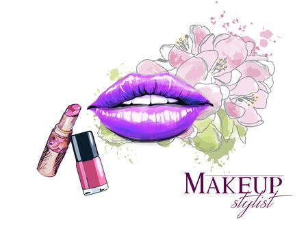 Makeup studio logo design template 矢量图像
