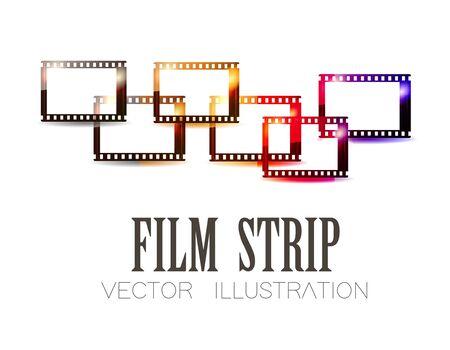 Film stripe over white background. Vector illustration Illustration