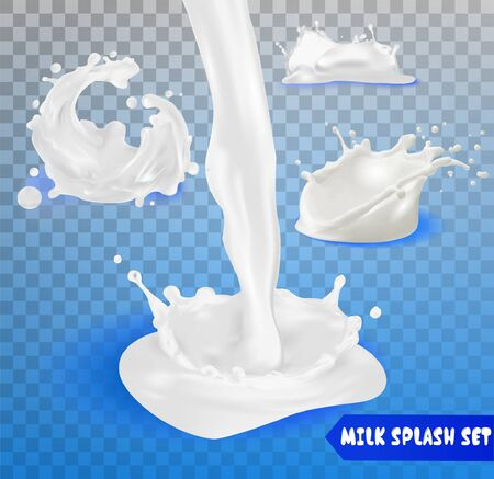 Milk splashes, drops and blots.