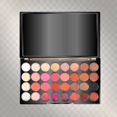 Modern eye shadow palette. Mockup 3d illustration isolated on background. Graphic concept for your design