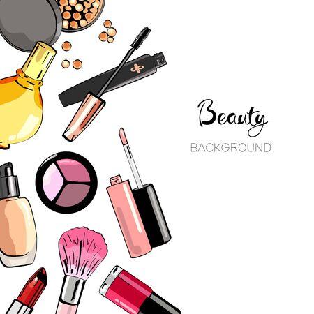 Kosmetik-Hintergrund.