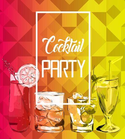 Cocktail Party vector illustration. Illusztráció