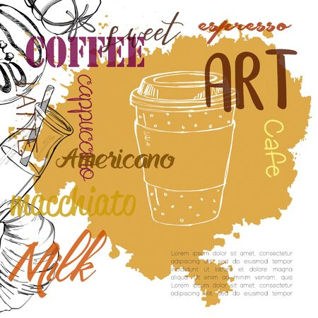 Vintage coffee backgrounds. Menu for restaurant, cafe, bar, coffeehouse.