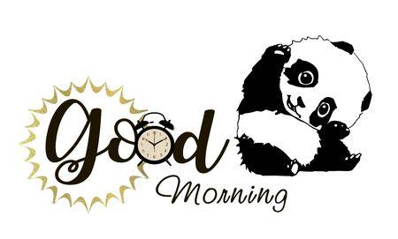 Good morning starts. Panda Archivio Fotografico - 133531979