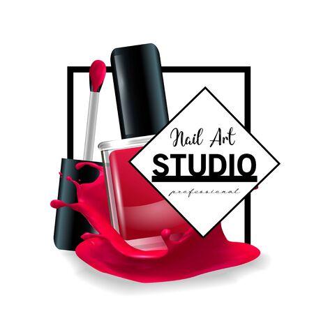 Nail Art studio design template.