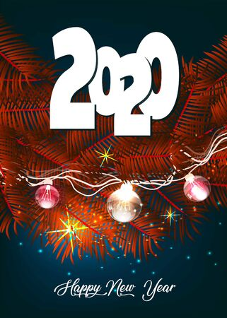 Happy New Year background. Vector illustration.