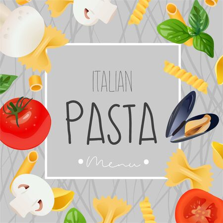 Italian menu design. Vector realistic template.