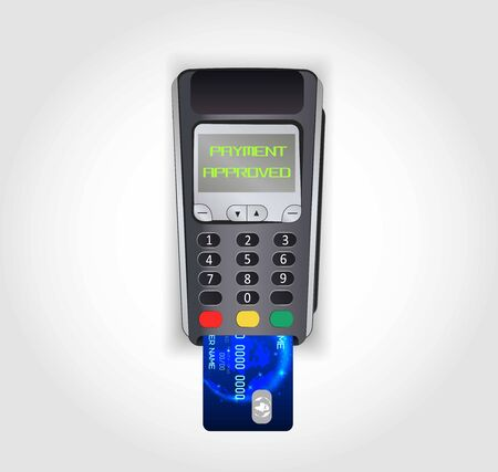 Contactless payment. Wireless mobile payment by credit card.