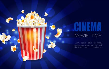 Cinema poster design. Vector template banner.