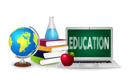 The concept of education. Online education.