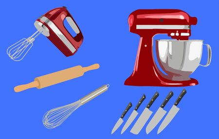 Isolated object of kitchen and cook . Collection of kitchen and appliance vector icon for stock.