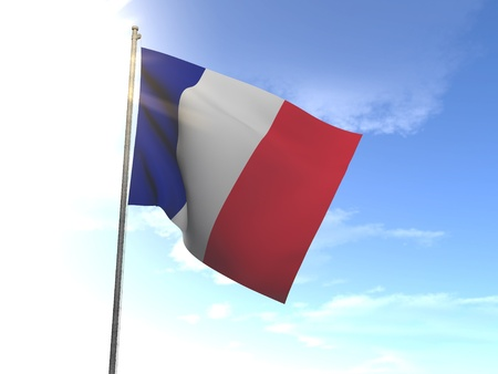 proportion: Flag of France Stock Photo