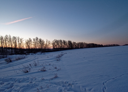 winter sunrise: Winter sunrise in rural areas