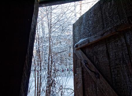 porch scene: View from the door
