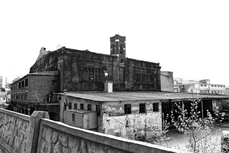 empty warehouse: the building of the old warehouse in Moscow, Russia