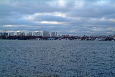 Bank of the Moscow river in November, South port