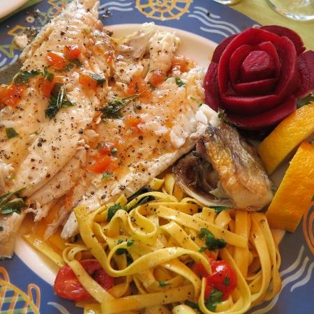 sea bream: Grilled sea bream on plate Stock Photo