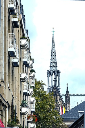rhine westphalia: Cathedral in Cologne from the other side  North- Rhine Westphalia, Germany