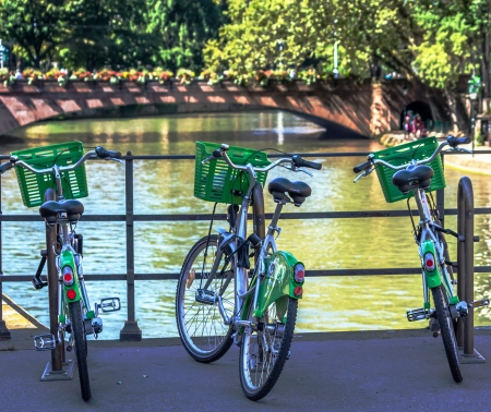Community bike hire in Strasbourg, France