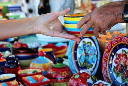vend: Buying colorful ceramic