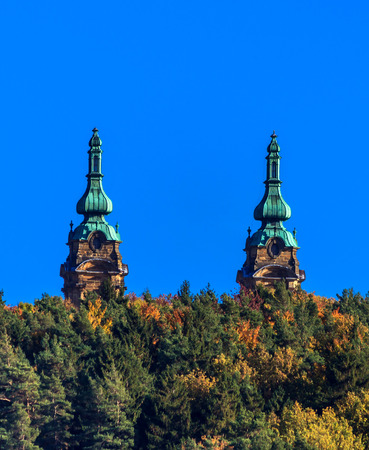 fourteen: The Basilica of Fourteen Holy Helpers-Upper Franconia, Bavaria, Germany Stock Photo