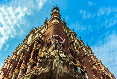 barcelona city: Palace of Catalan Music in Barcelona  The Palau de la Musica Catalana was declared as UNESCO World Heritage site since 1997