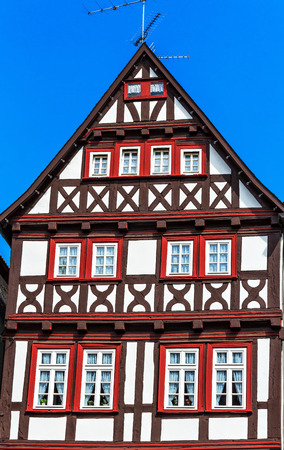 Colorful half-timbered house in Alsfeld, Hesse, Germany photo
