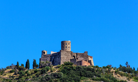 port vendres: The Fort Saint- Elme, historical castle between Collioure and Port Vendres, Southern France  Editorial