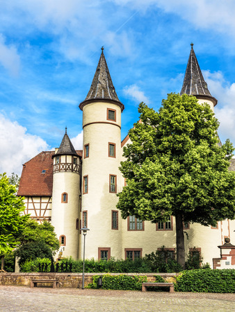 seven dwarfs: The Spessart Museum, Snow White Castle in Lohr am Main, Bavaria, Germany