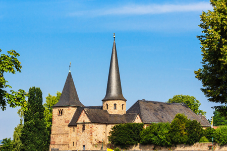 michael: The Michael Church in historical Fulda, Germany Stock Photo