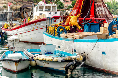 port vendres: Fishing boats in Port Vendres Cote Vermeille Southern France Stock Photo