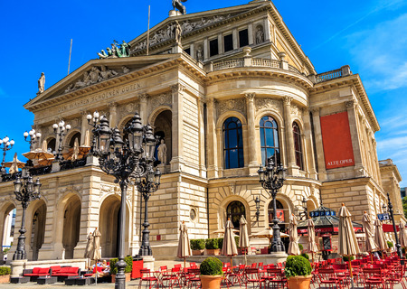 oper: Famous Opera House the Alte Oper in Frankfurt am Main Editorial