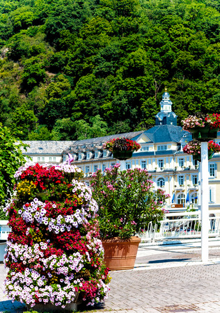 ems: Bad Ems, the spa town on the banks of the river Lahn, Germany
