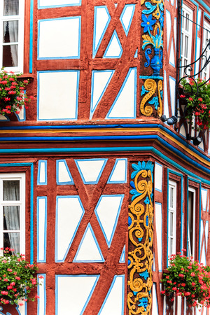 timbered: Idstein - Picturesque wood timbered old town in the Taunus Mountains, Germany