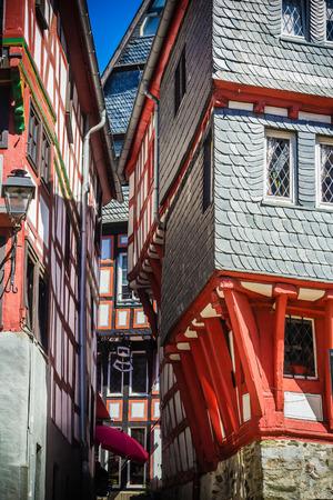 limburg: A narrow steep alley in Limburg an der Lahn, Germany