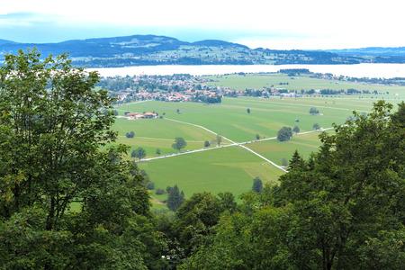 fairytale castle: The Alpsee near Neuschwanstein Fairytale Castle - Bavaria, Germany