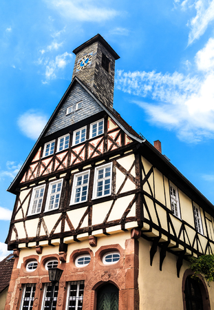 hesse: Historic Old Town Hall in Ortenberg, Hesse, Germany