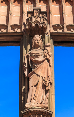 our lady: Saint Mary sculpture at the Cathedral of Our Lady in Wetzlar, Germany