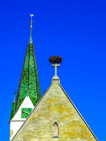 john the baptist: Church of St. John Baptist Church at Market Place in Bad Saulgau, Upper Swabia, Germany Stock Photo