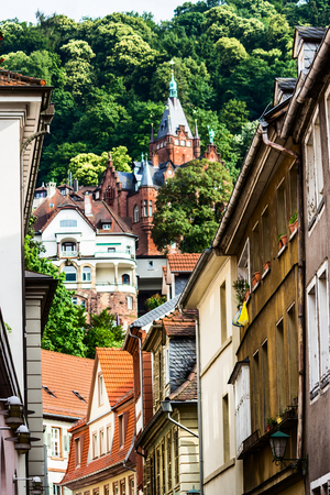 heidelberg: Picturesque Old Town of Heidelberg, Germany Editorial